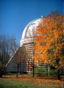 Крупнейший инструмент КрАО - 2,6-метровый ЗТШ