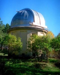 Башня знаменитого астрографа 'Цейсс-400', на котороом было открыто рекордное число астероидов