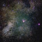 Туманности и звездные облака на границе созвездий «Стрельца» и «Змеи». Погребисский Сергей (Москва)