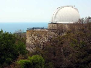 Башня 1-метрового телескопа Цейсс 1000 на г. Кошка