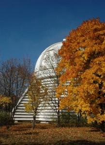 Башня 2,6 м телескопа ЗТШ, крупнейшего инструмента КрАО